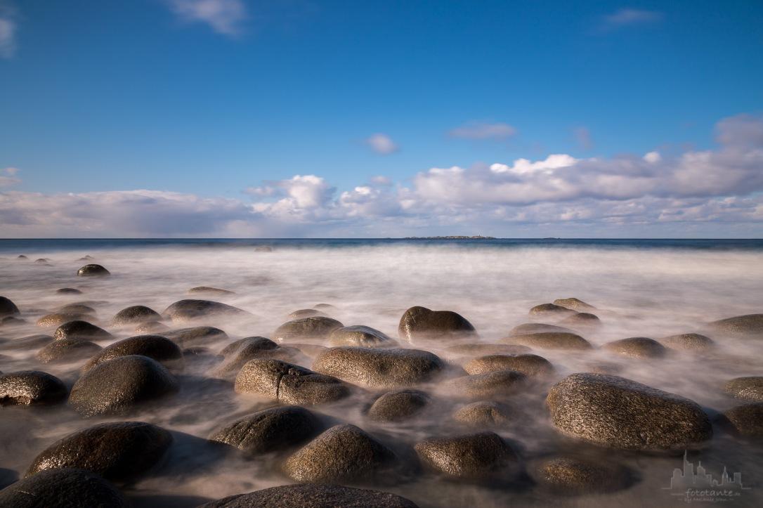 Lofoten beach Uttakleiv stones