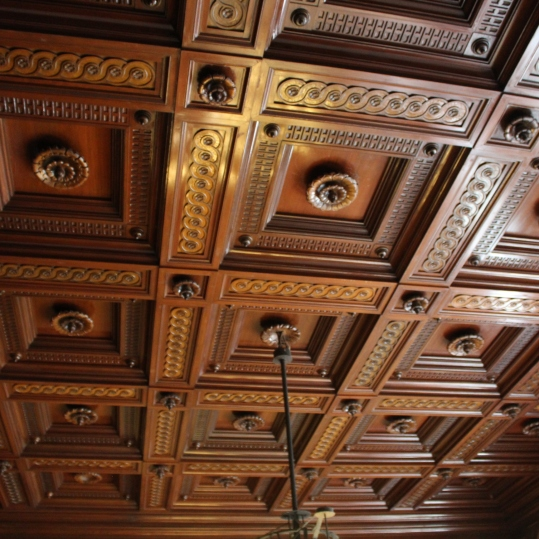 drewniane kasetony
