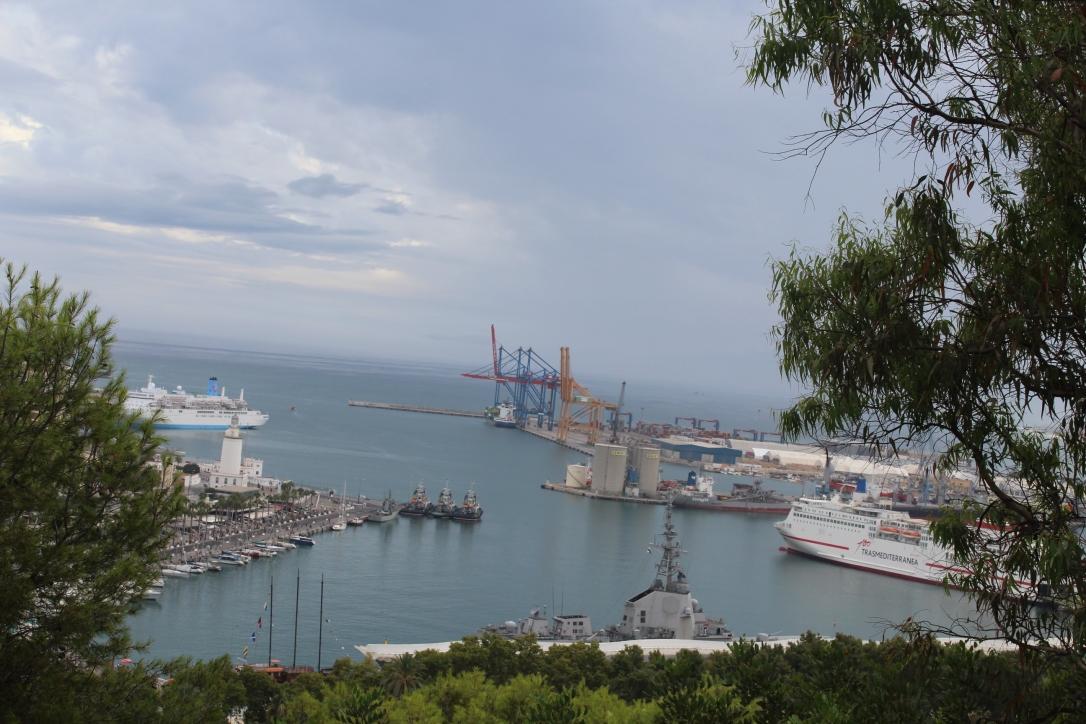 alcazaba widok na port