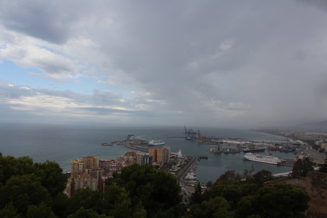 gibralfaro widok na port